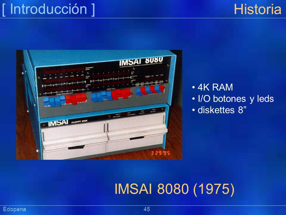 [ Introducción ] Historia IMSAI 8080 (1975) 4K RAM I/O botones y leds
